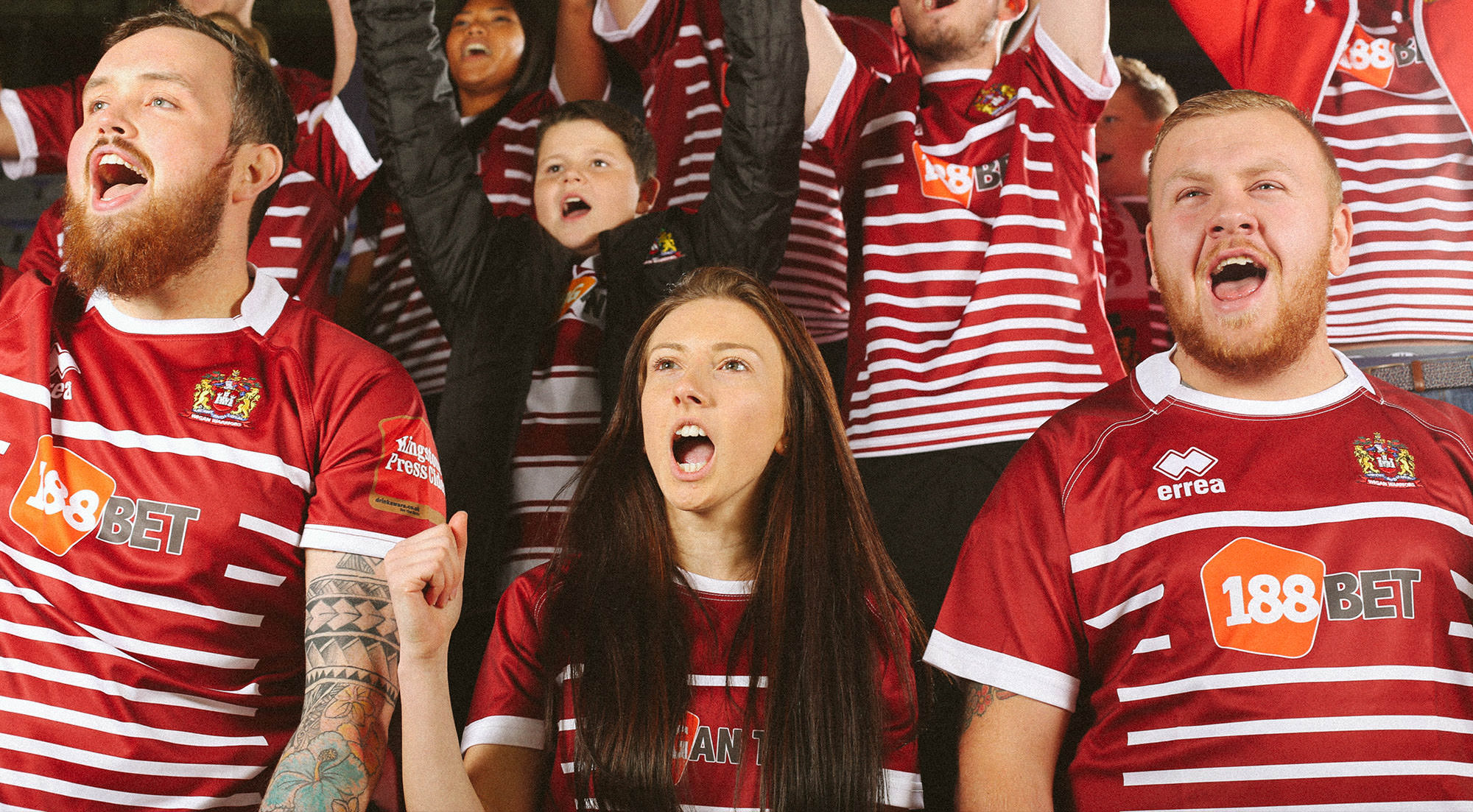 WIGAN WARRIORS RUGBY KIT LAUNCH