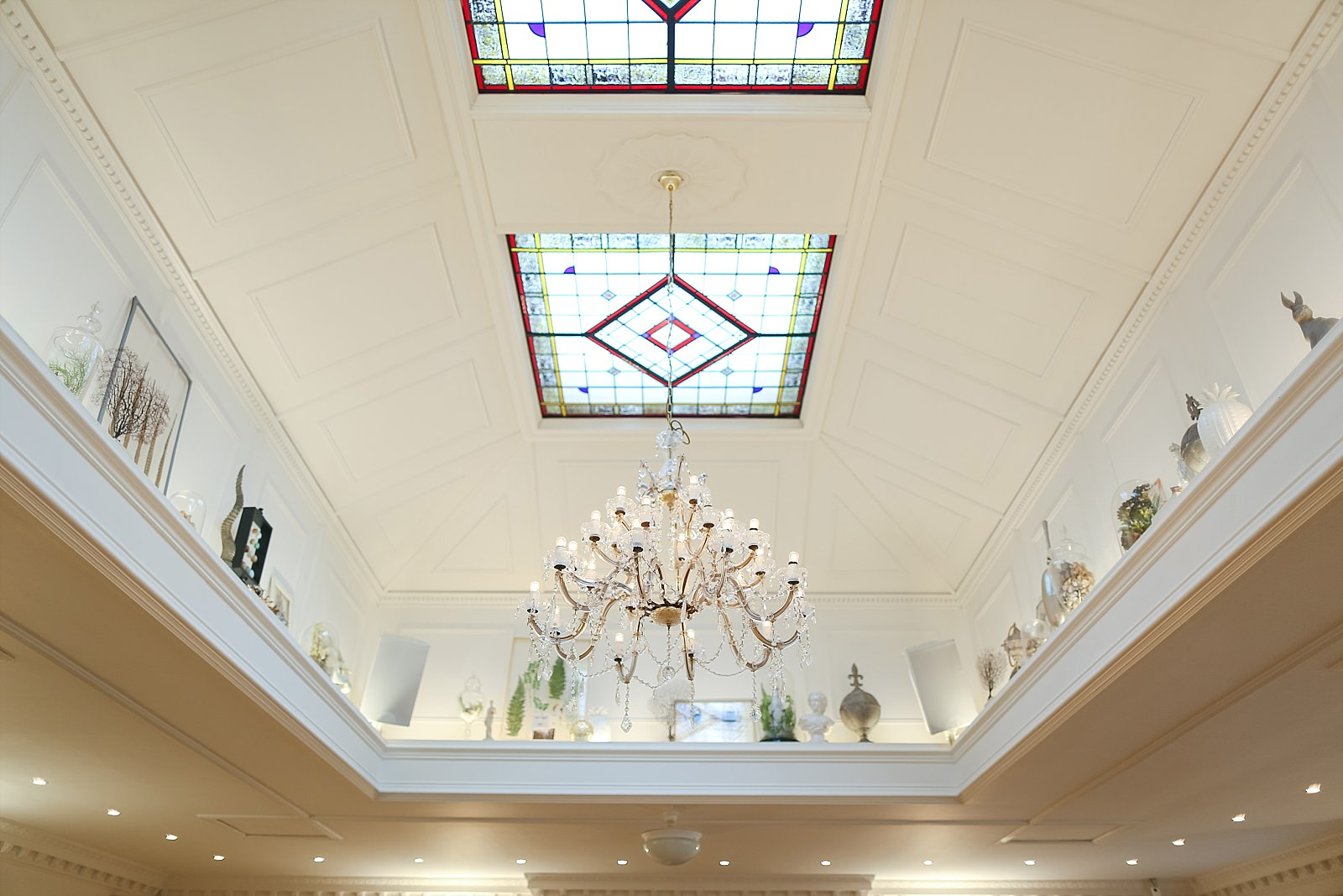 ceremony ceiling at Ashfield house Wedding Venue