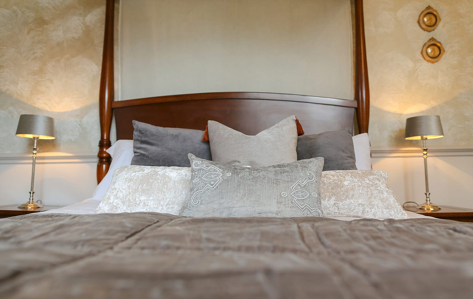 new bed ready with cushions