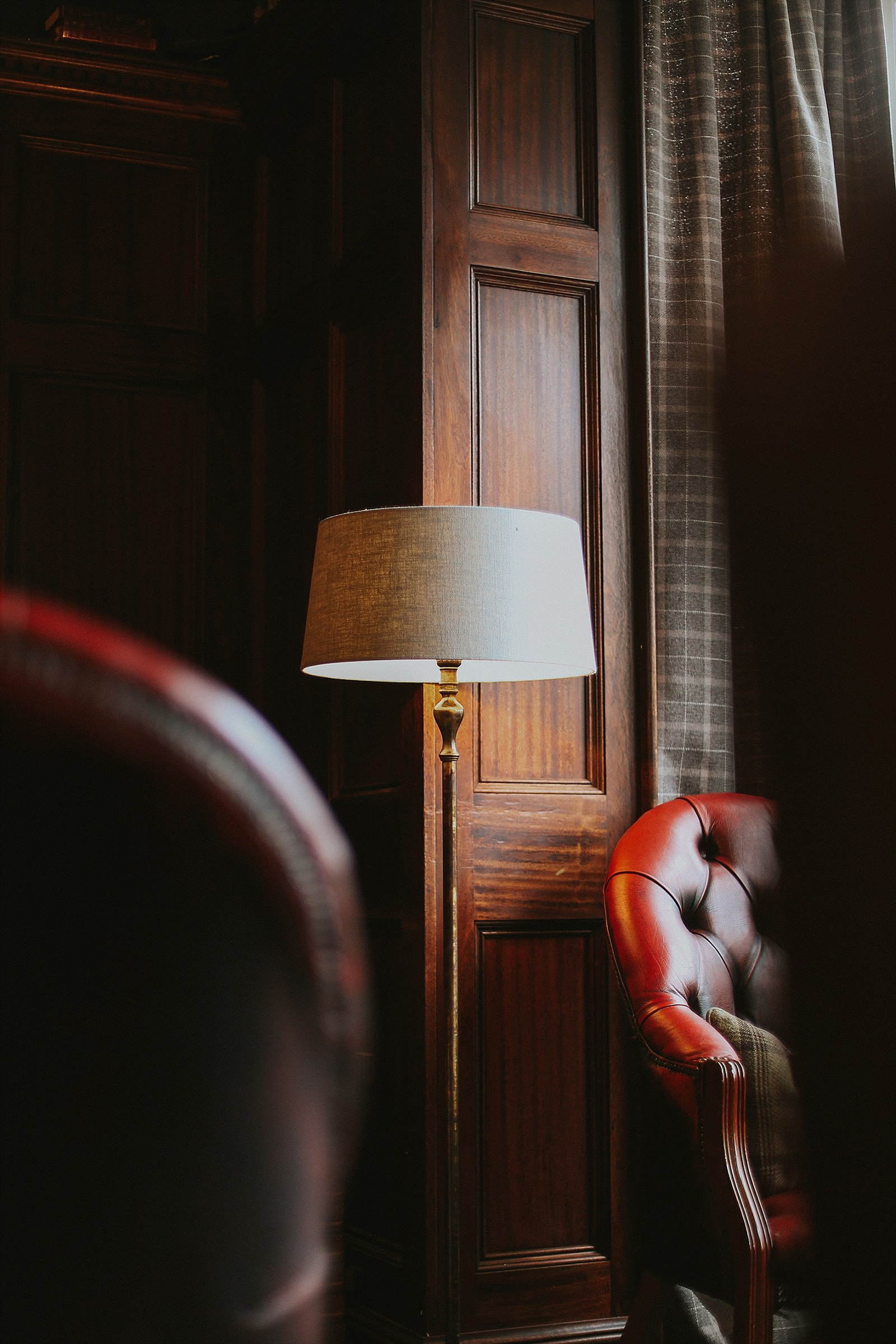 lamp shade in a lounge at a hotel in wigan