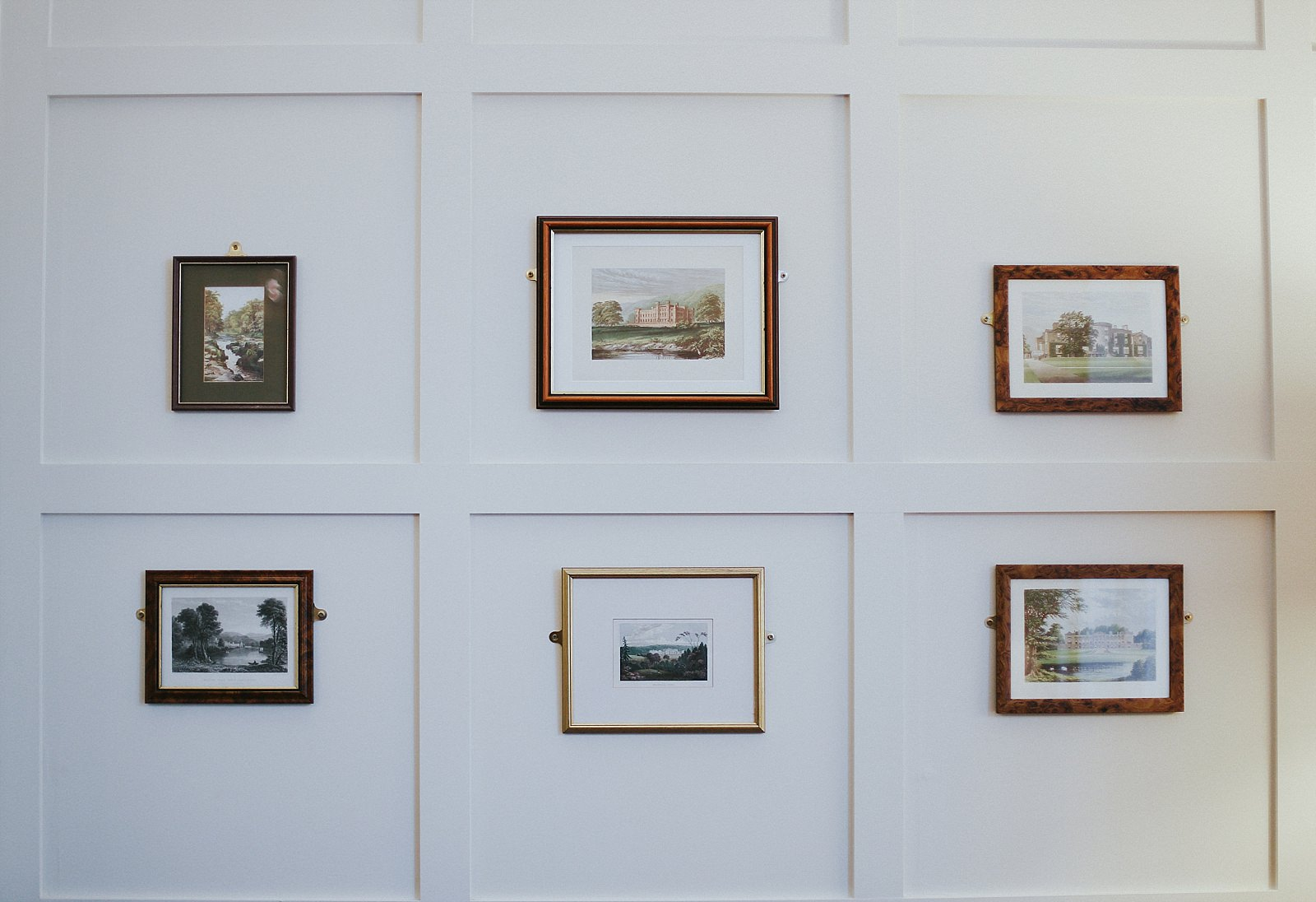 six pictures on a wall