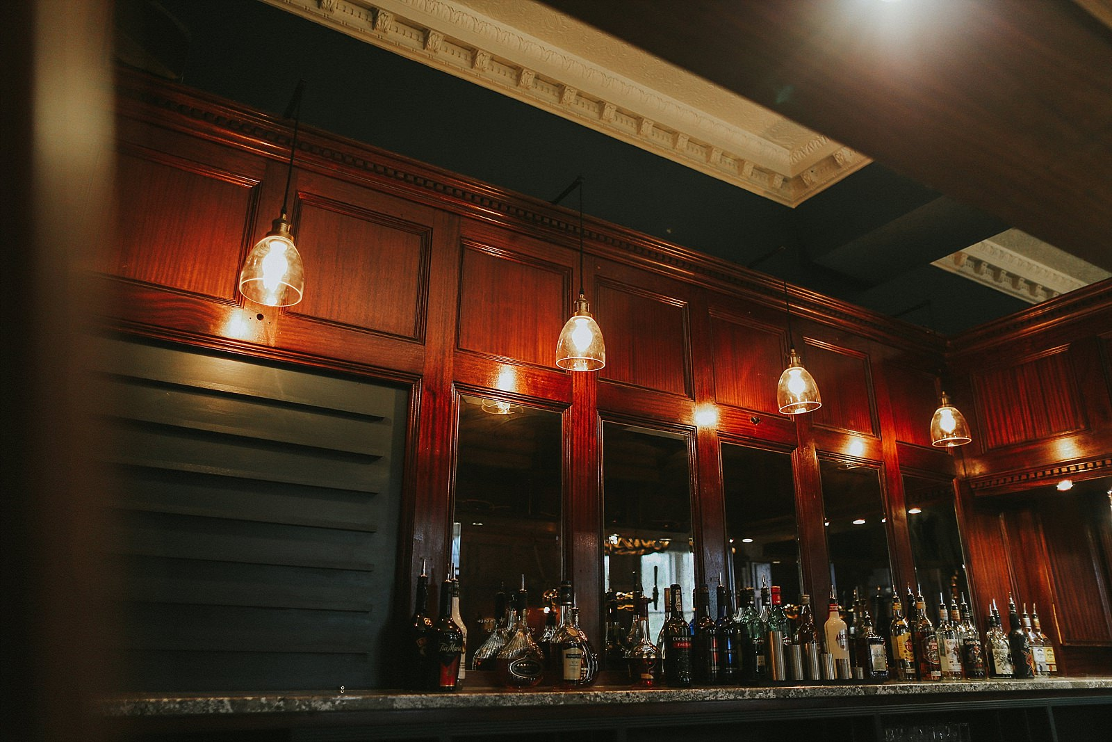 bar lighting in a lounge
