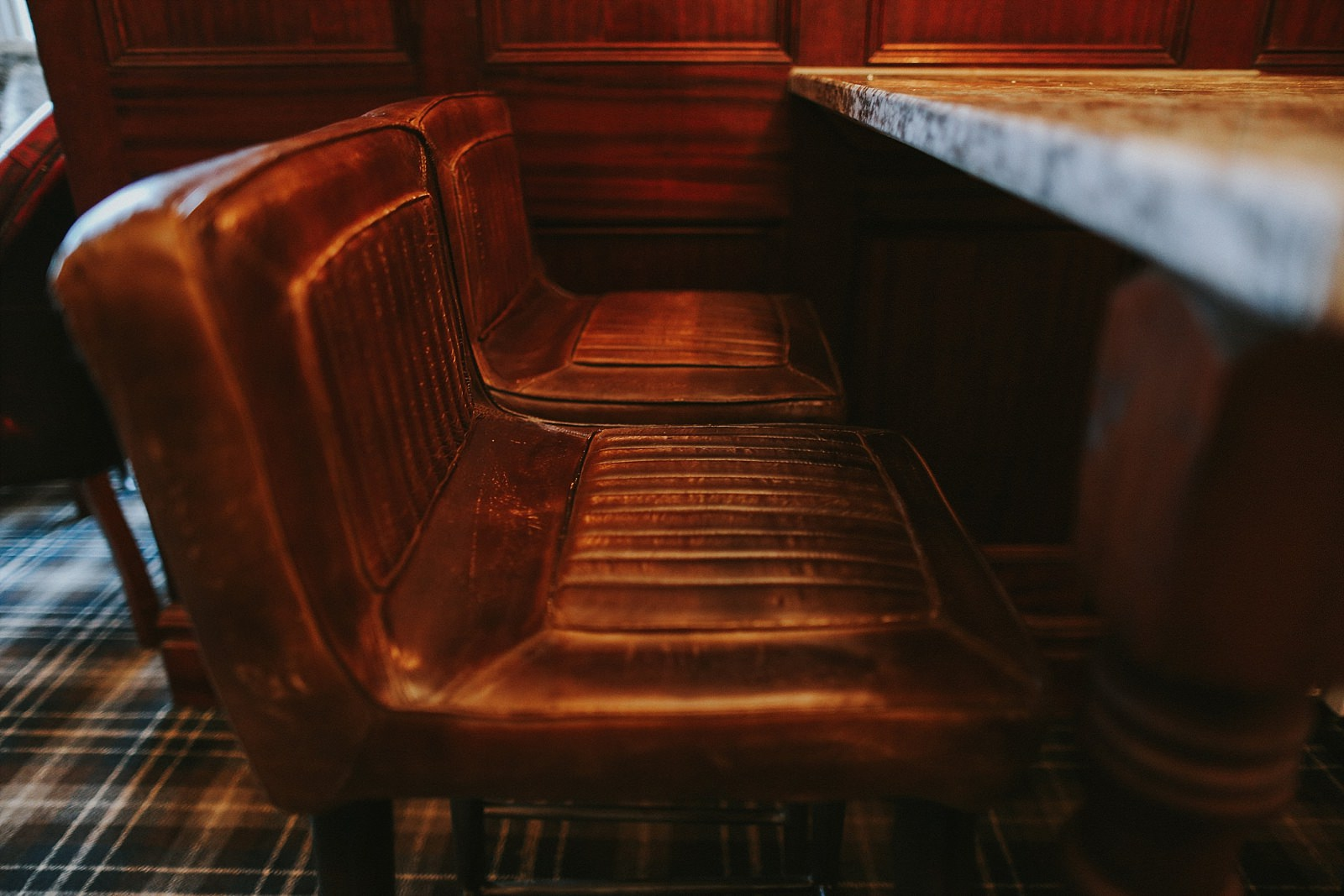pilot leather seats in a lounge