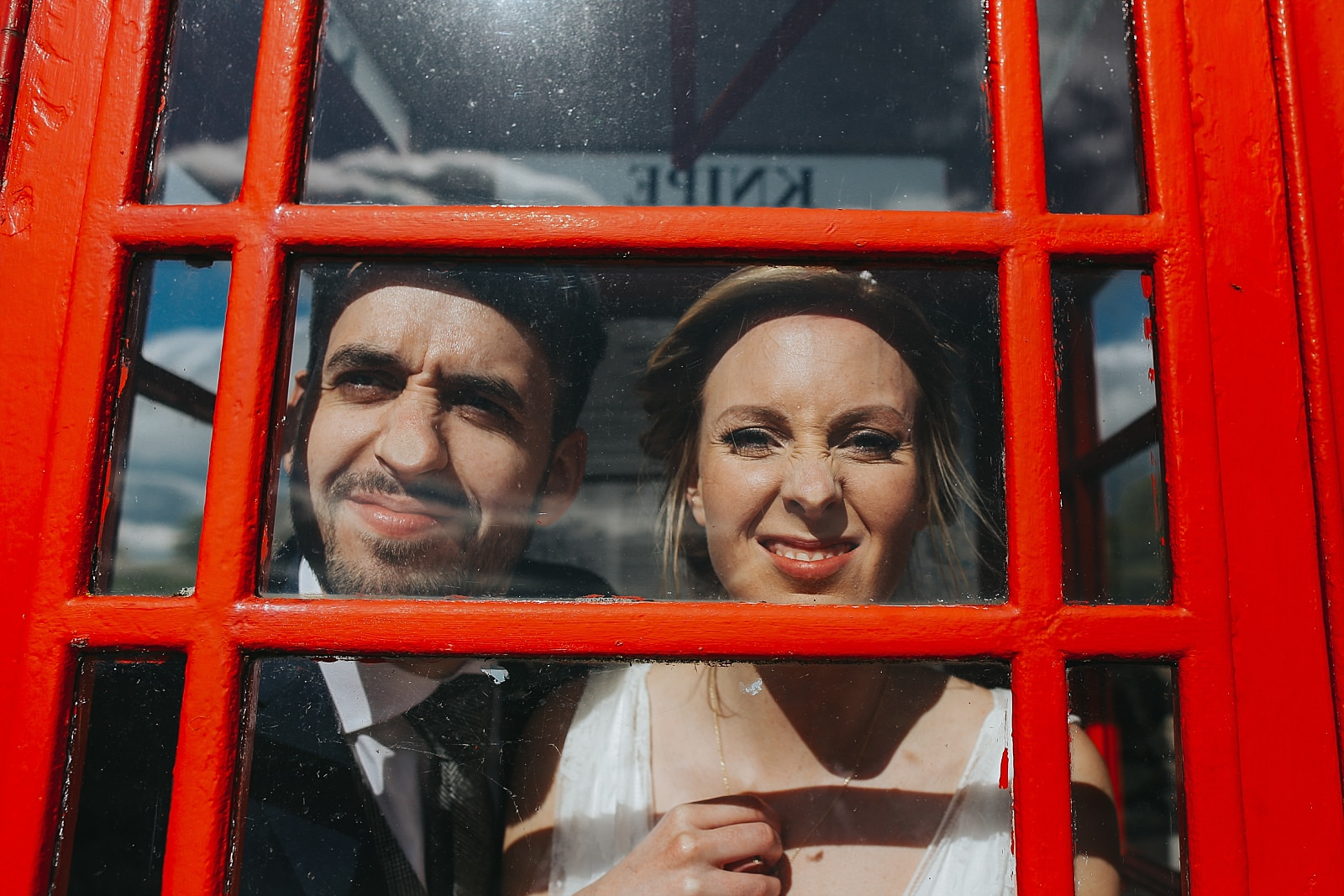 knipe hall fun phone box face pulling