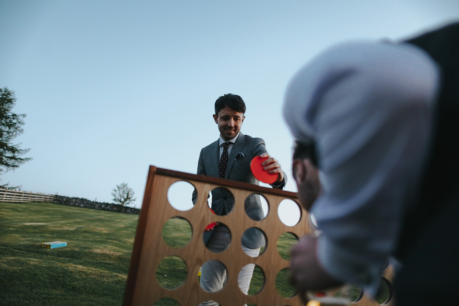 giant connect 4 at a wedding