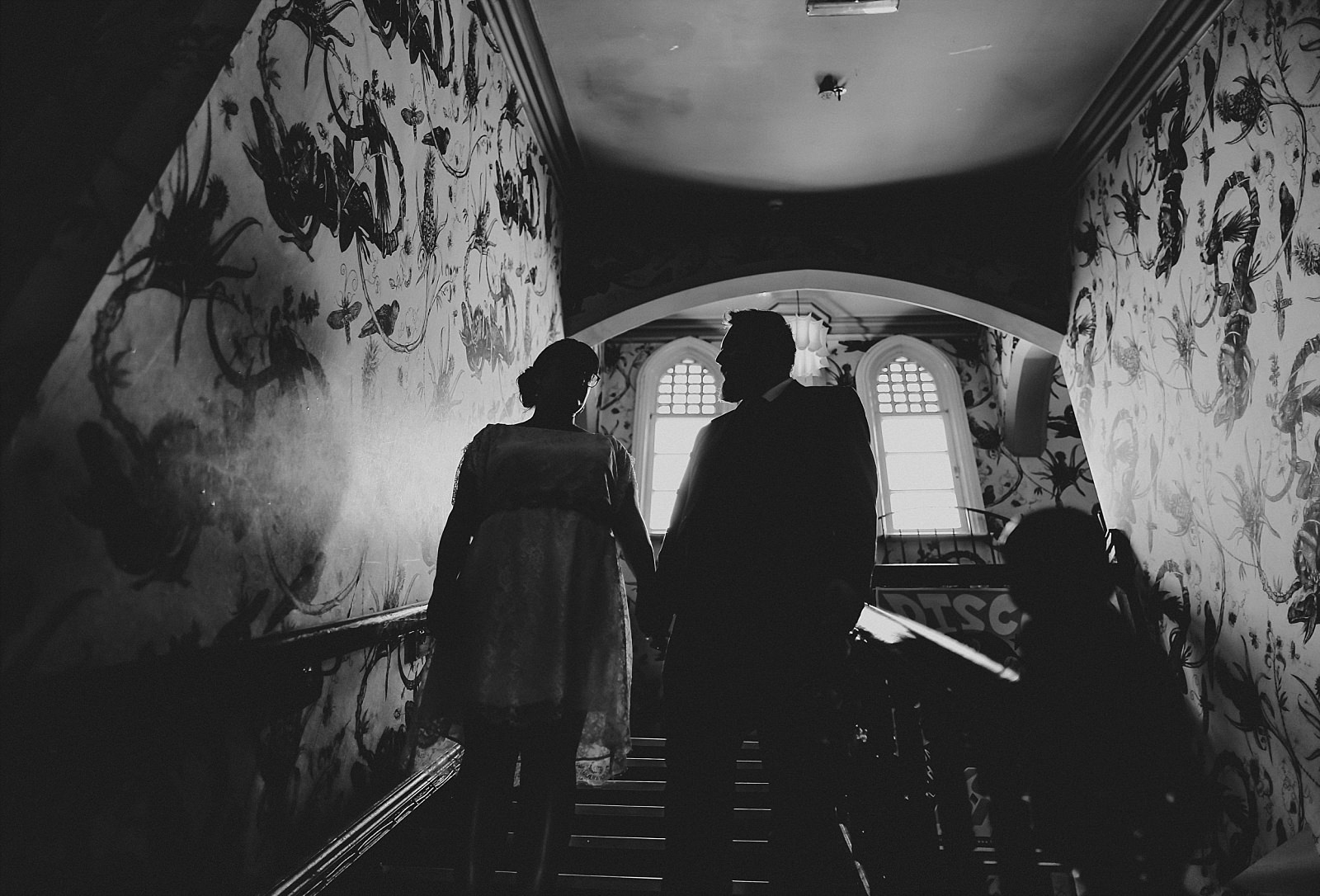 bride and groom get married inside the deaf institute