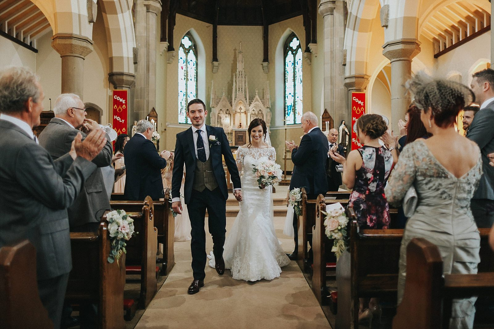 just married at st wilfrids clitheroe