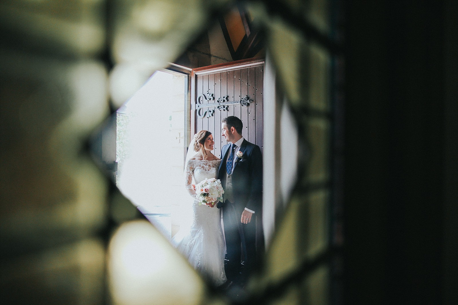 bride and groom at st wilfrids church clitheroe