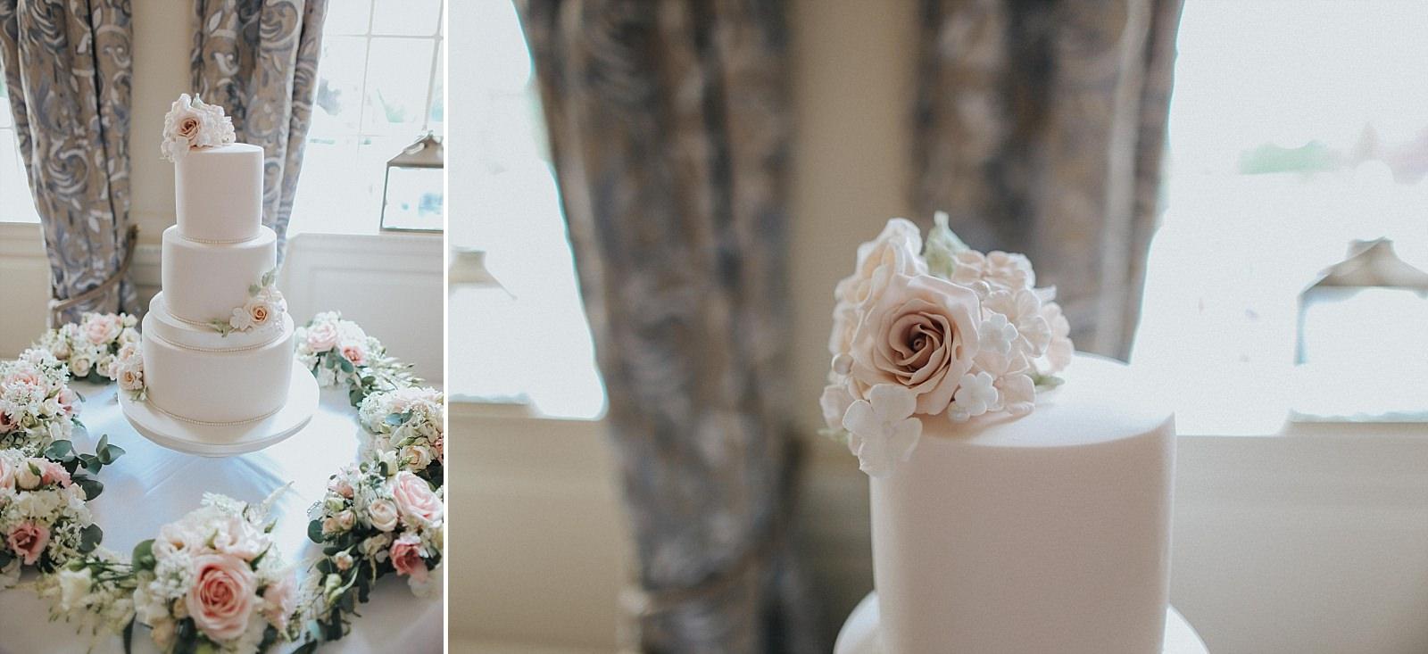 stunning pink frosting wedding cake