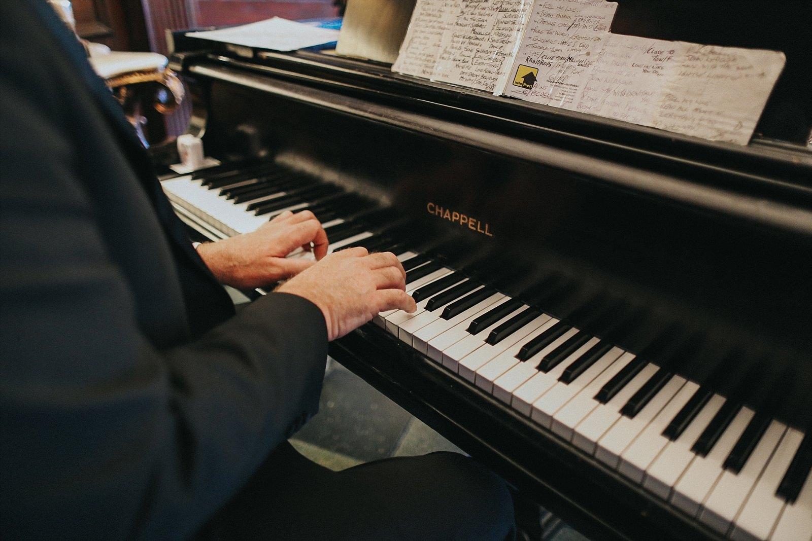 piano playing at eaves hall