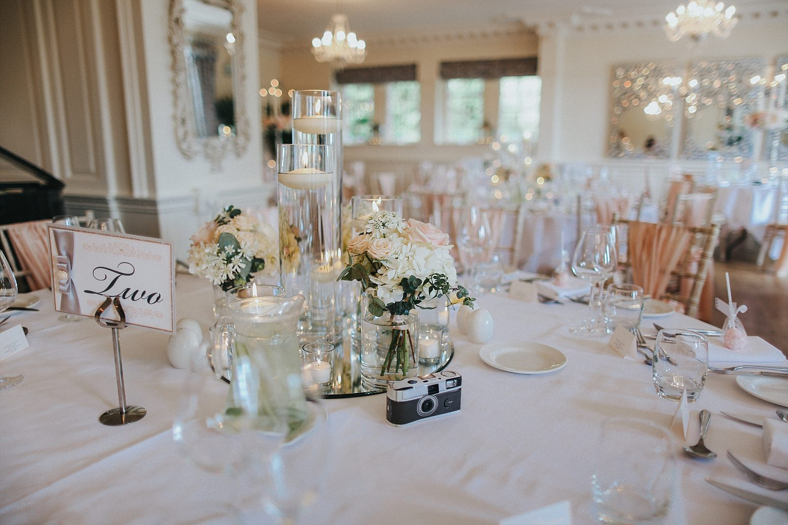 table centres at eaves hall