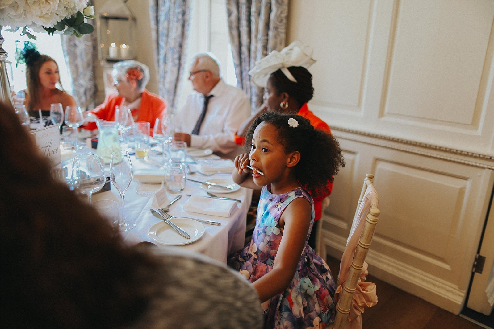 young black girl at wedding