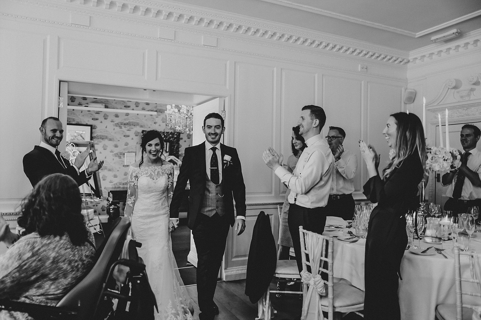 guests welcome bride and groom