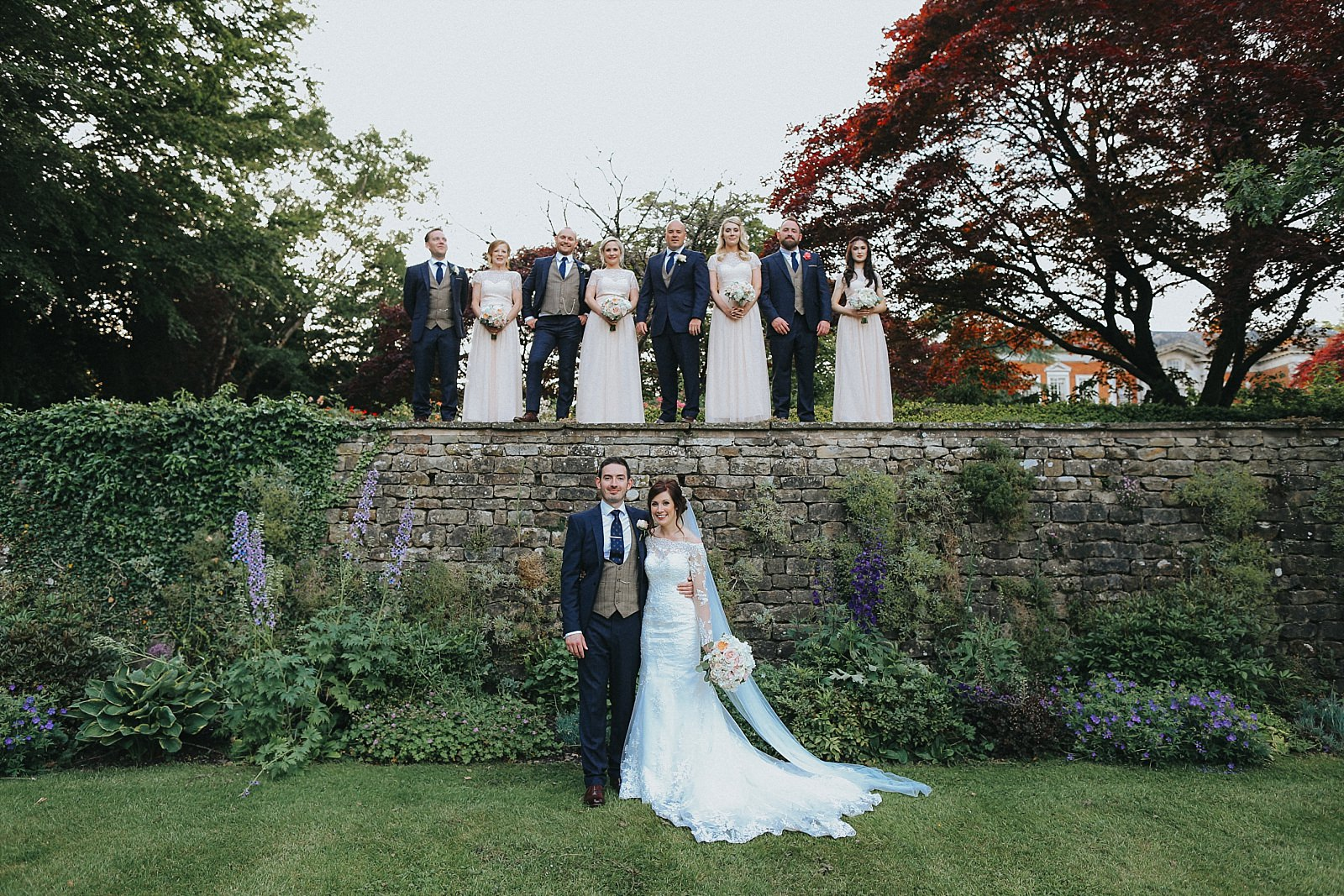 eaves hall wedding photographer captures the bridal party