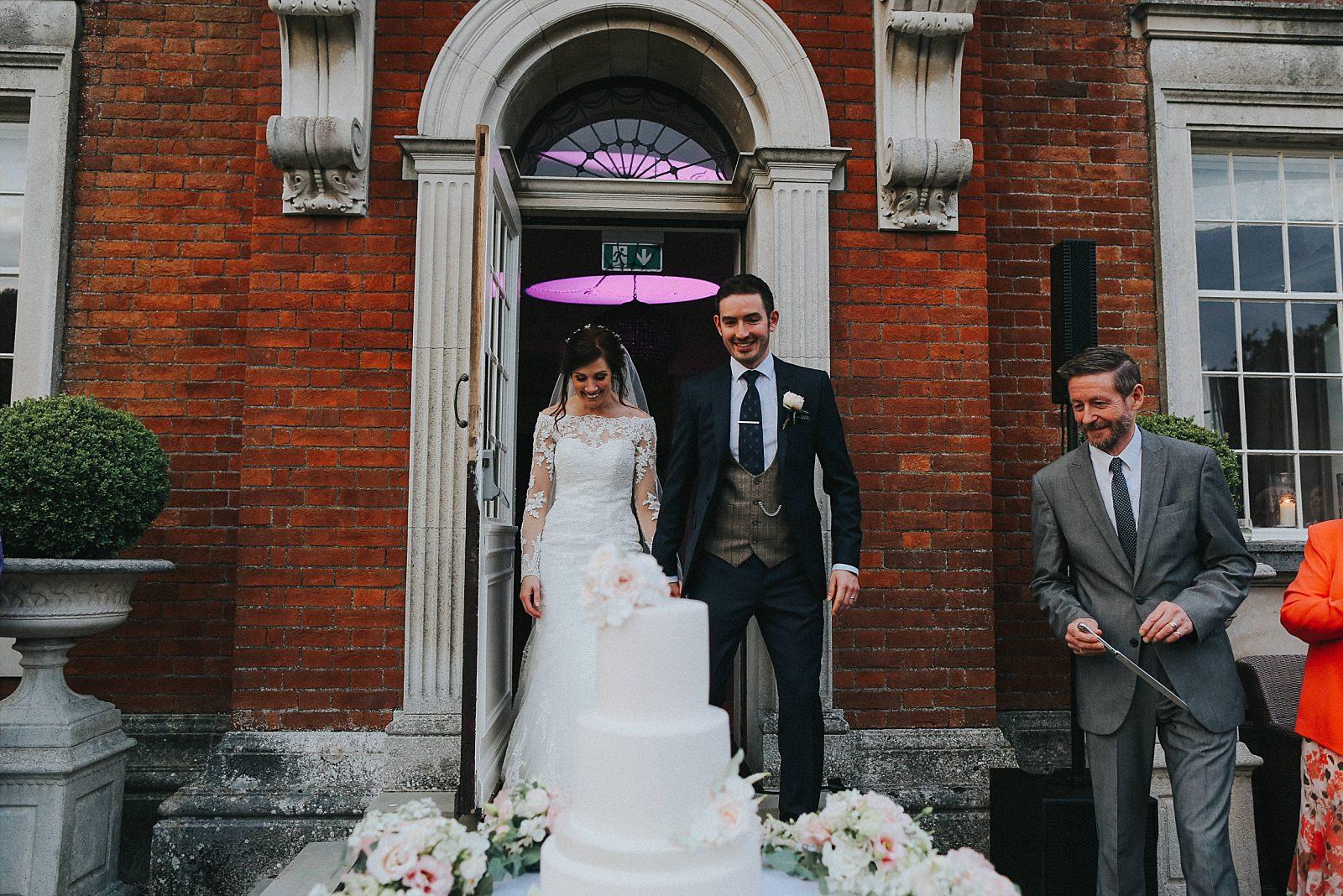beautiful pink frosting wedding cake