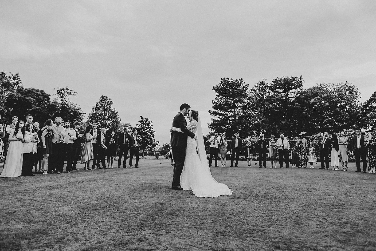 quirky wedding photographer captures first dance at eaves hall