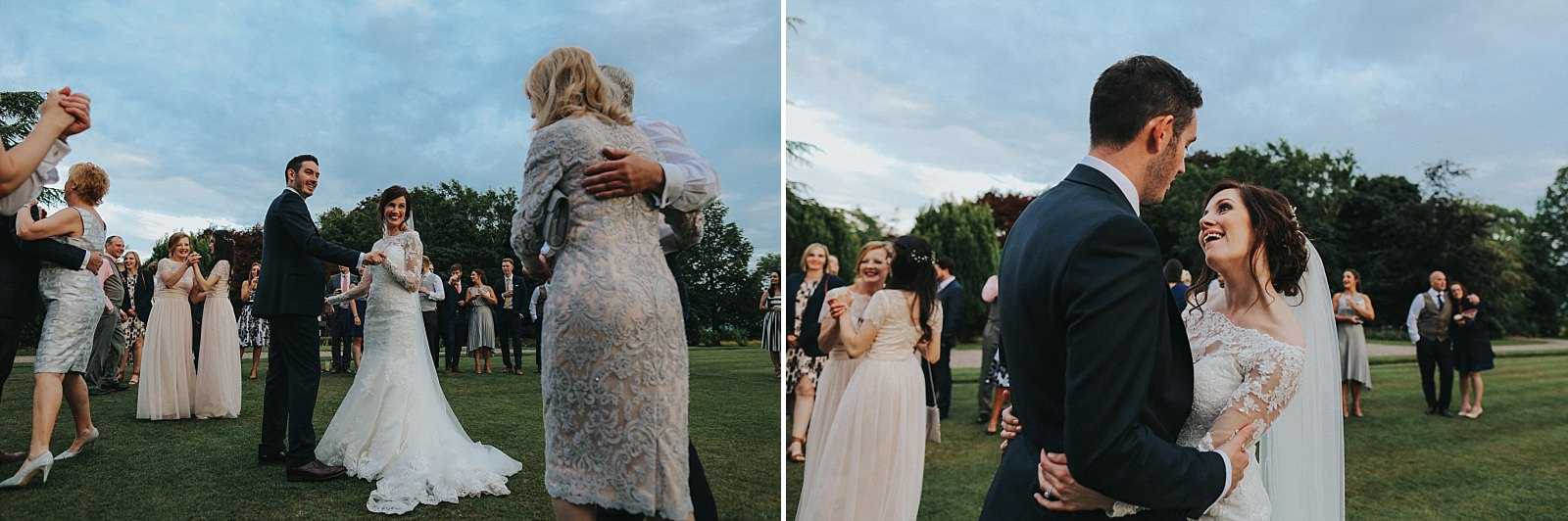 first dance on the lawn at eaves hall