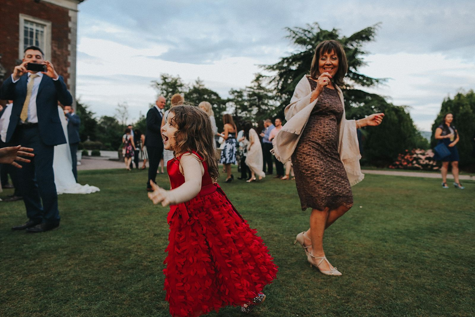 guests having fun on the lawn