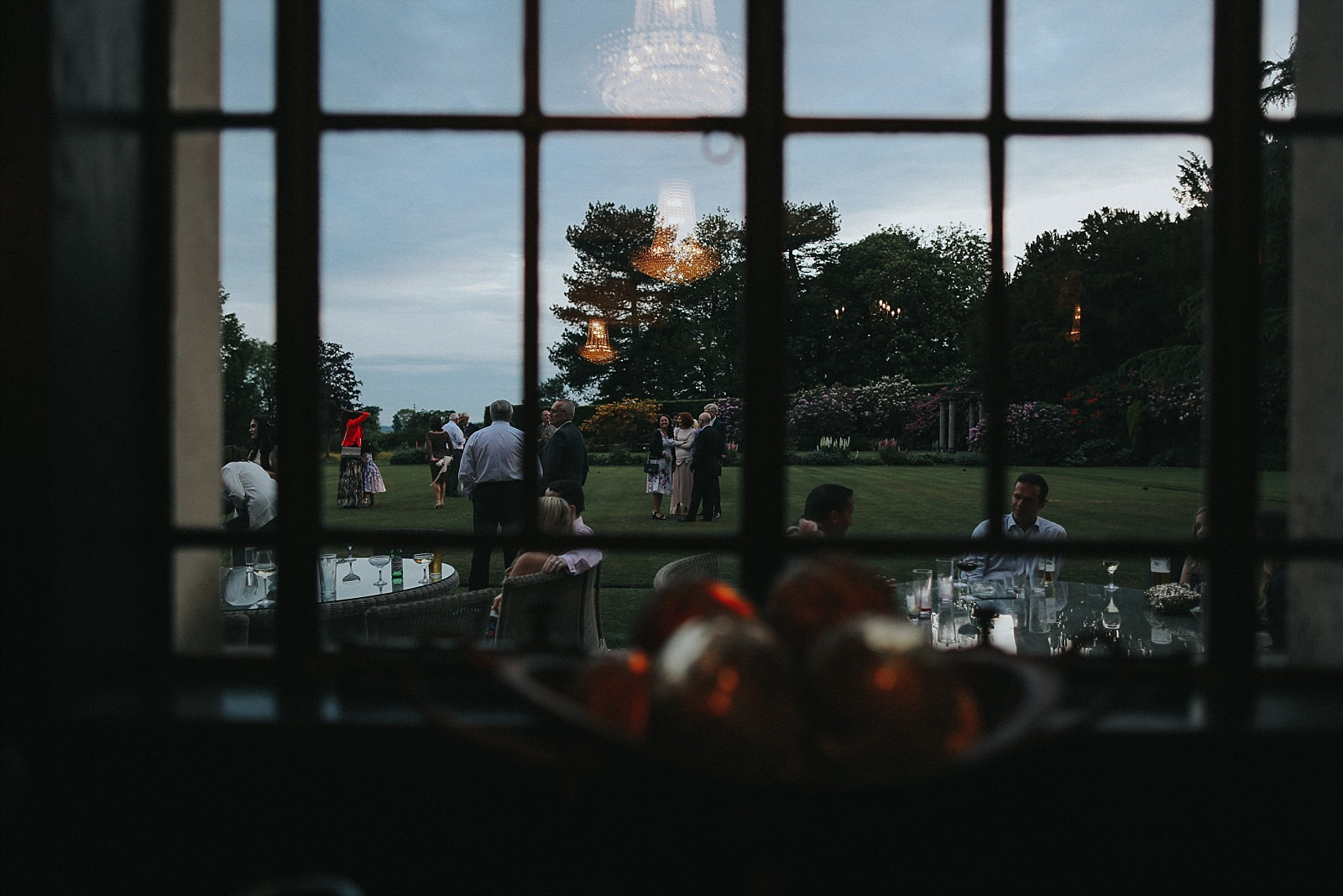 shooting guests through the windows at eaves hall