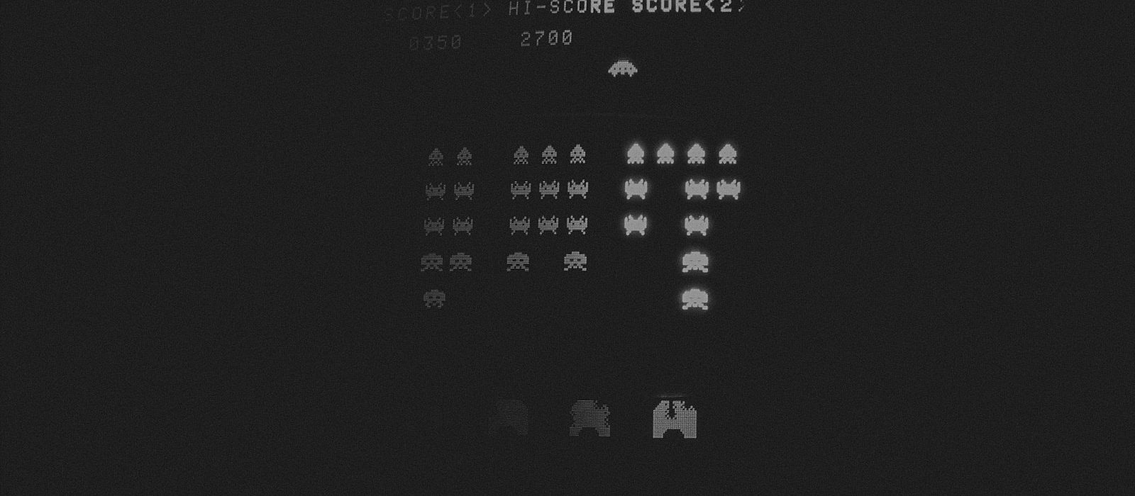 playing space invaders