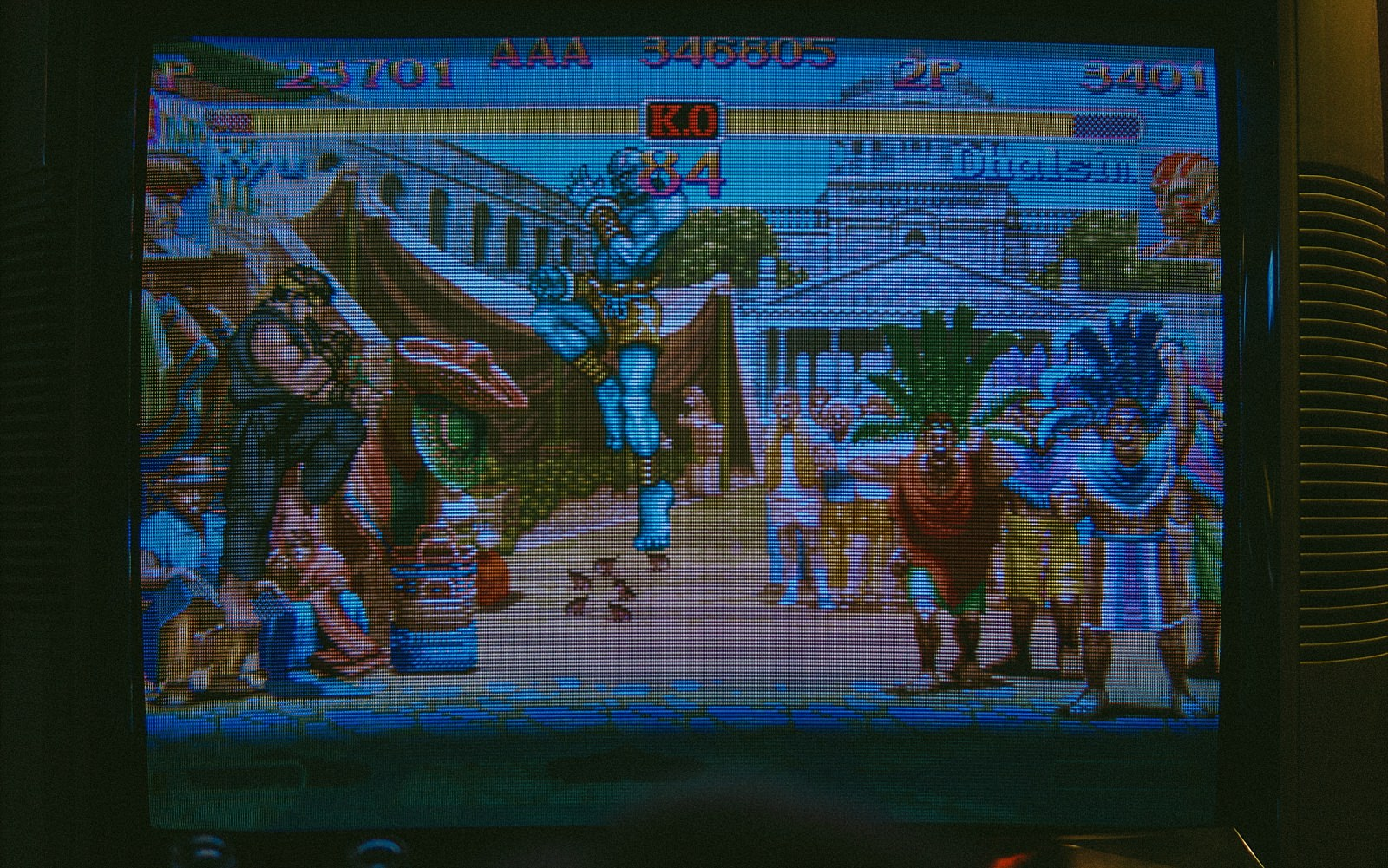 street fighter game on screen