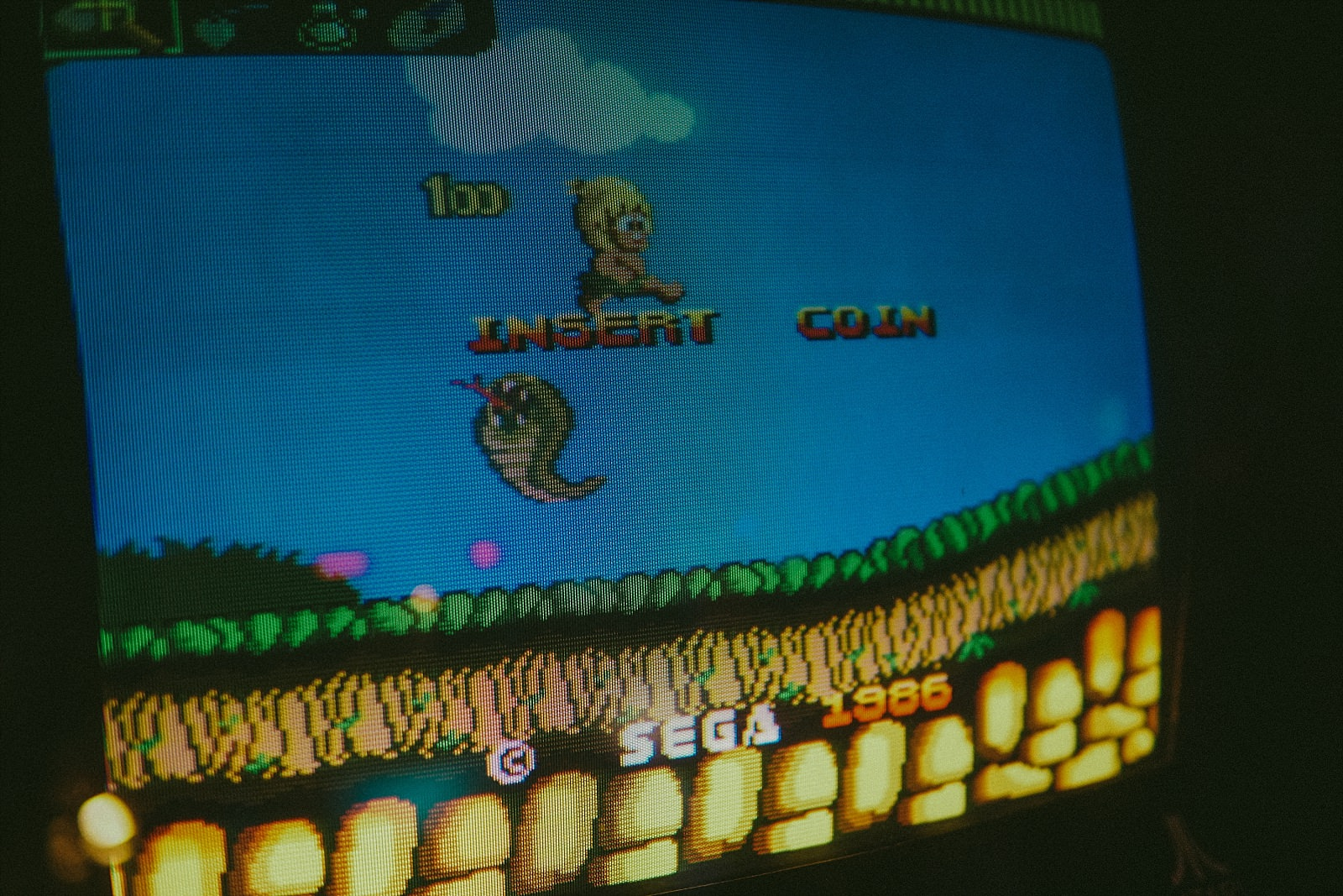 playing wonder boy arcade game