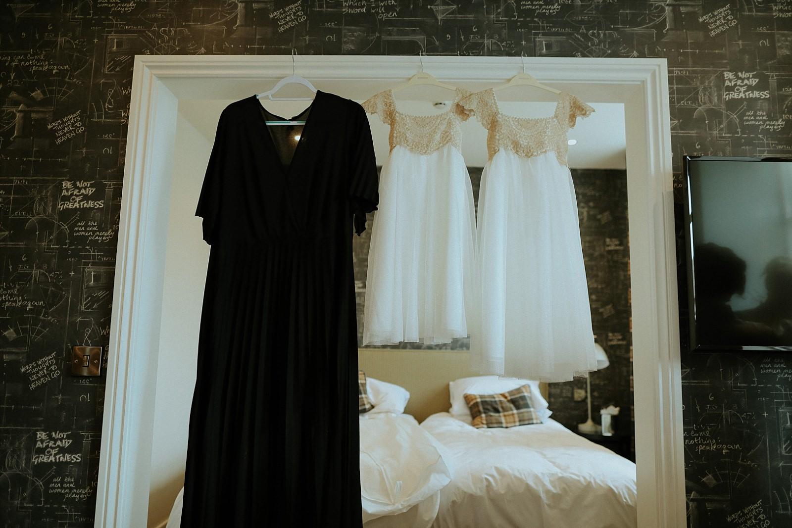 black bridesmaids dresses hun up
