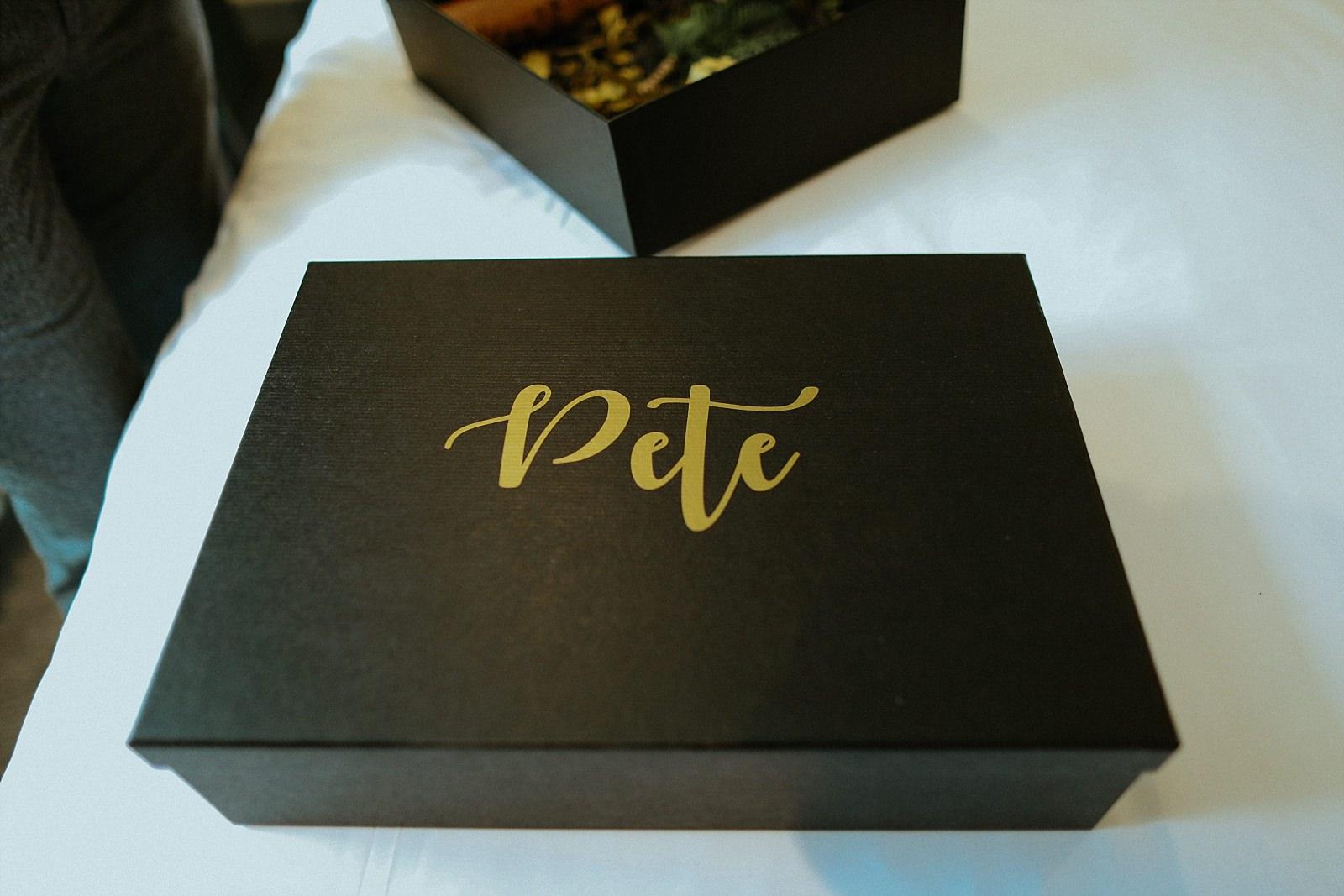 fancy groomsman gift box