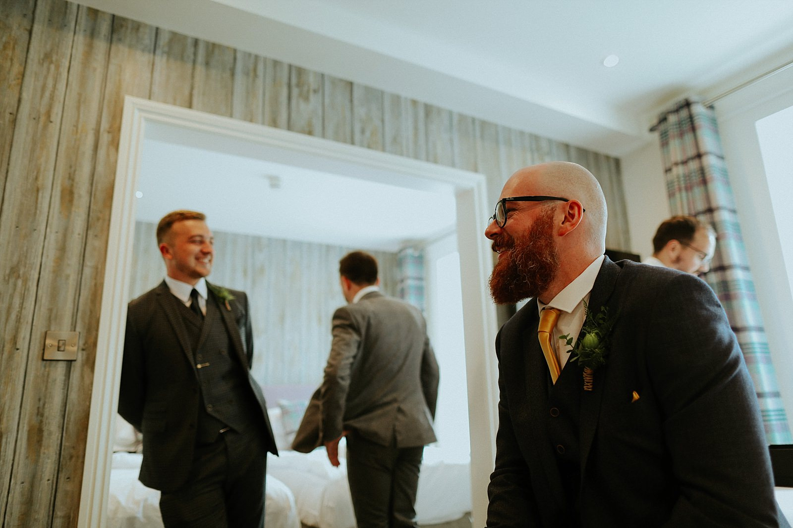 groomsman finished getting ready