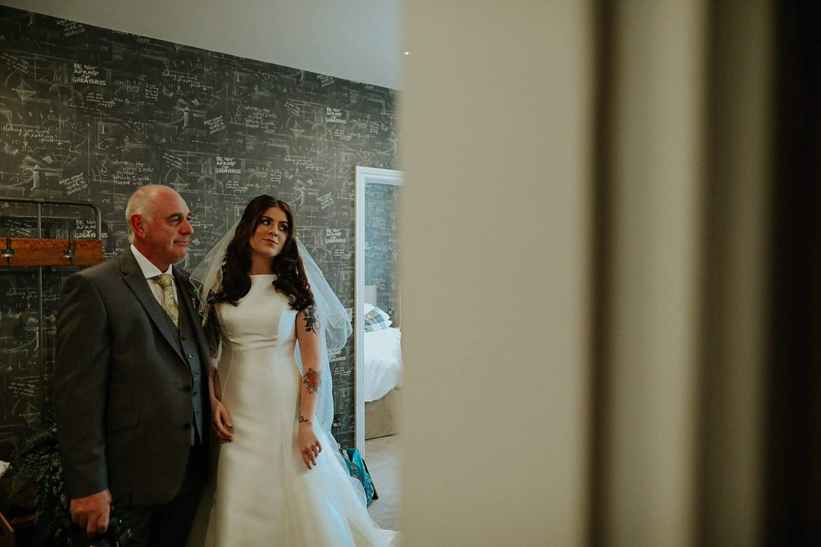 proud dad with his daughter getting married
