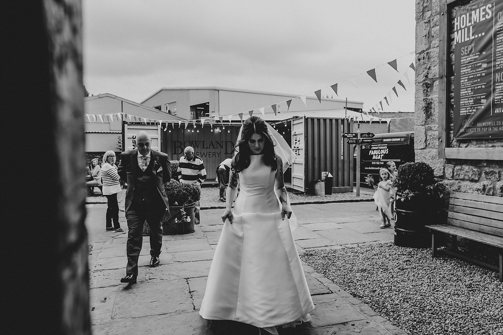 alternative tattooed bride at holmes mill wedding photography