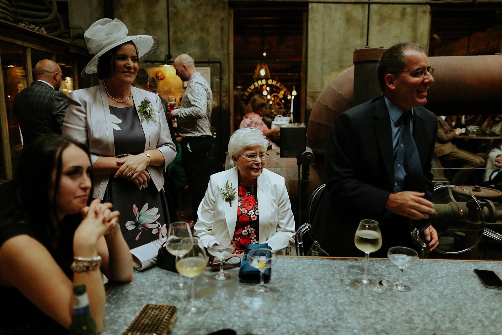 grandparents at a wedding