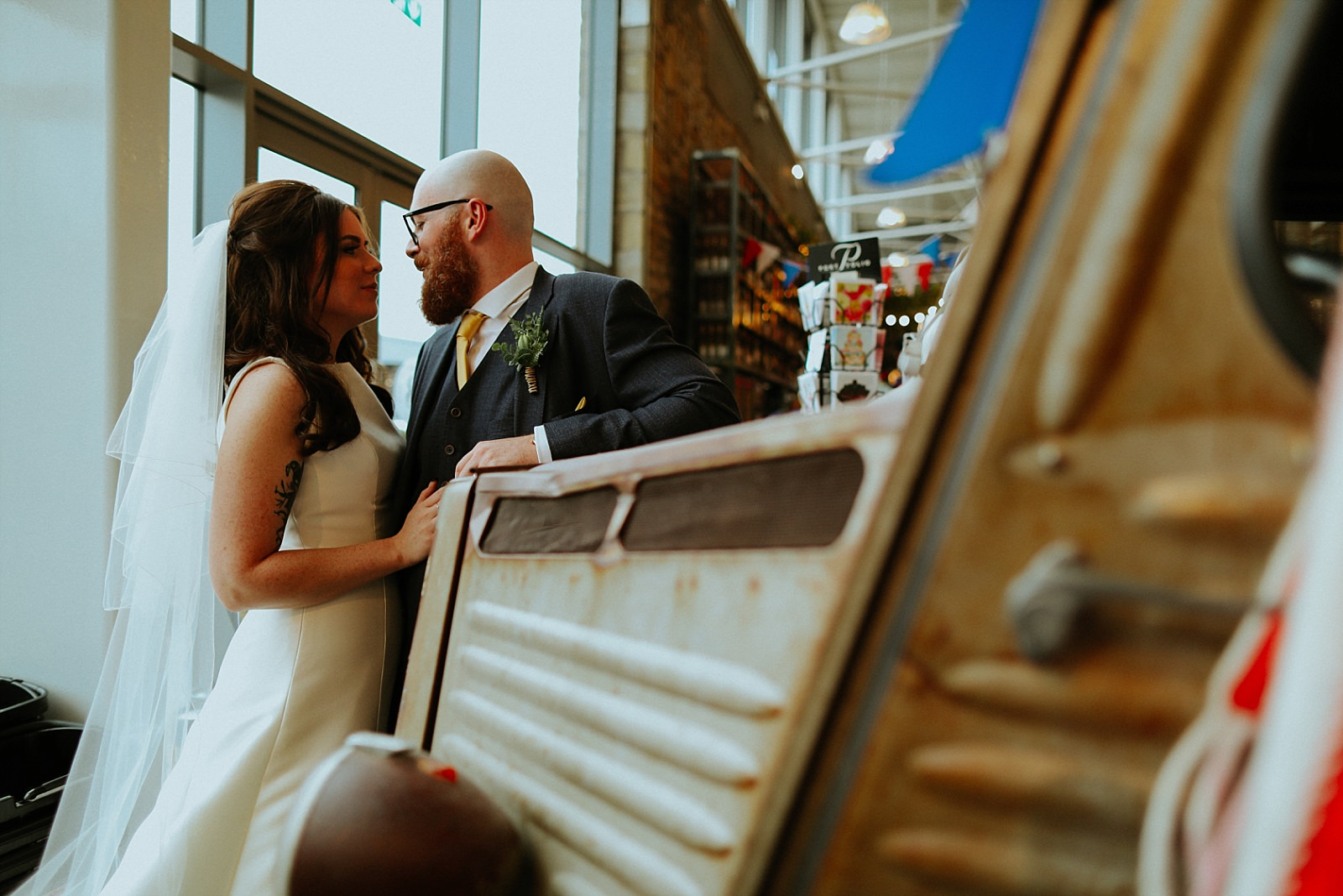 Clitheroe wedding photographer in bowling food hall