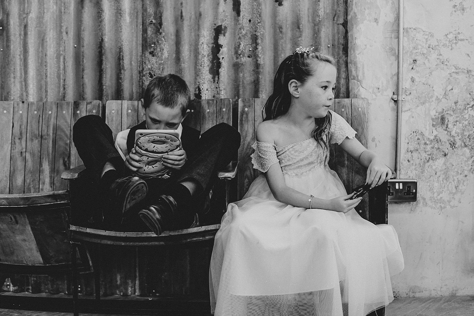documentary unposed photo of children unaware