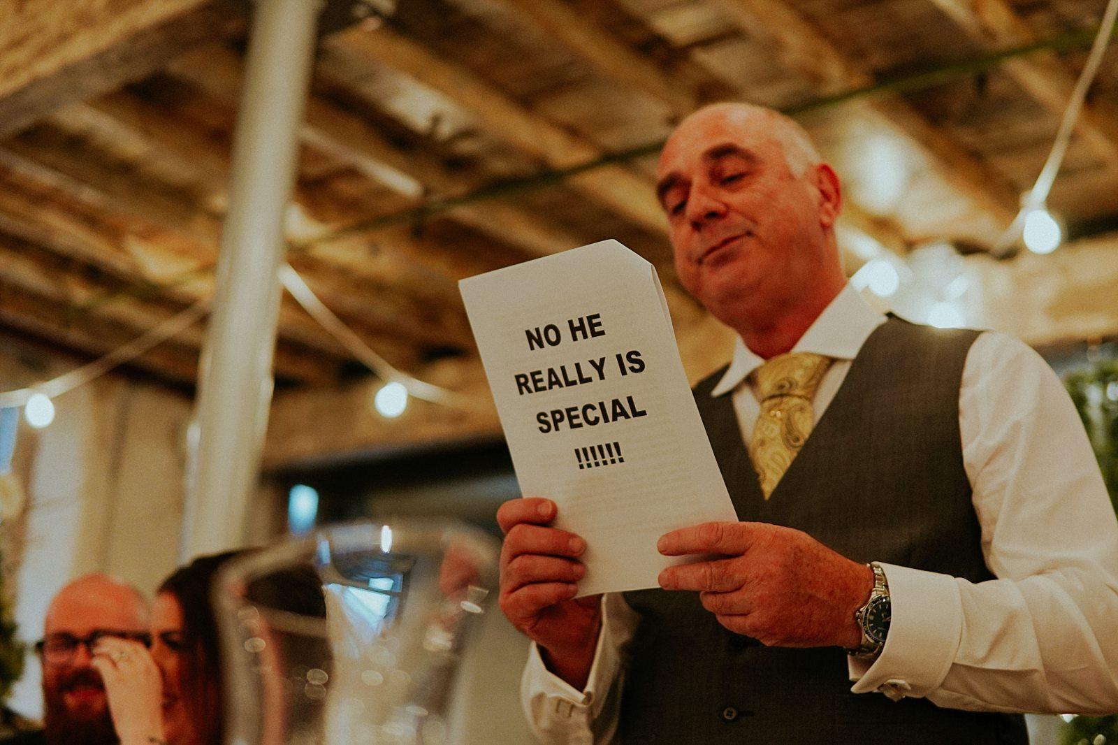 funny dad speech at holmes mill