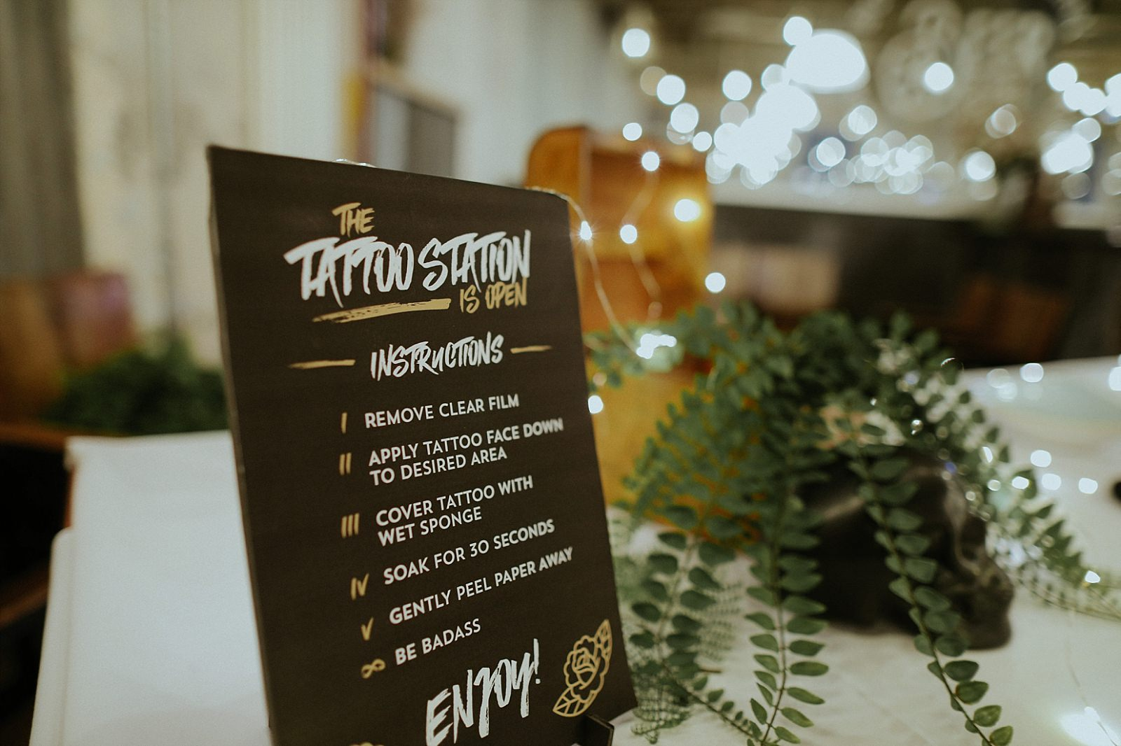 cool wedding artwork for tattoo station