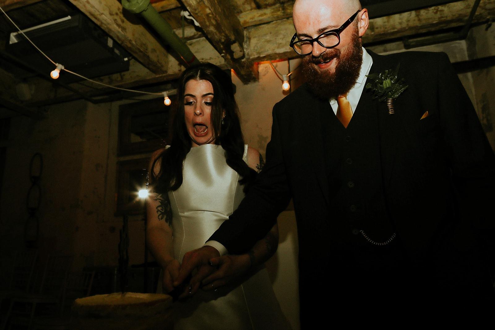 best reaction during wedding cake cutting