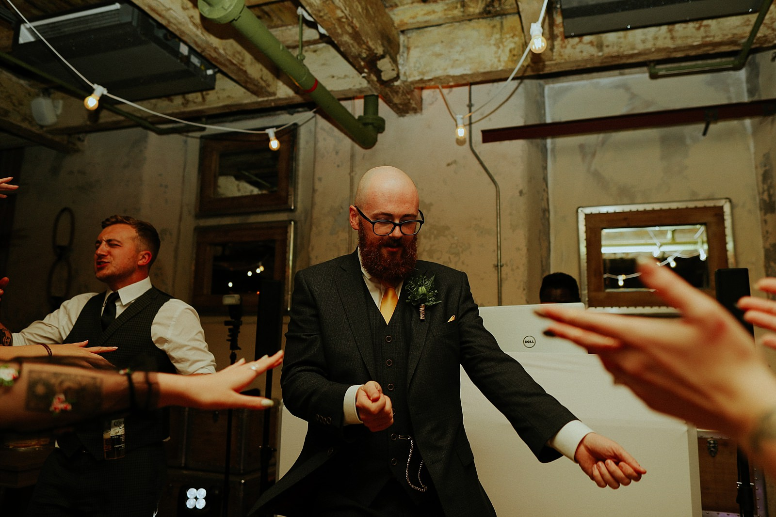 funny dance by the groom