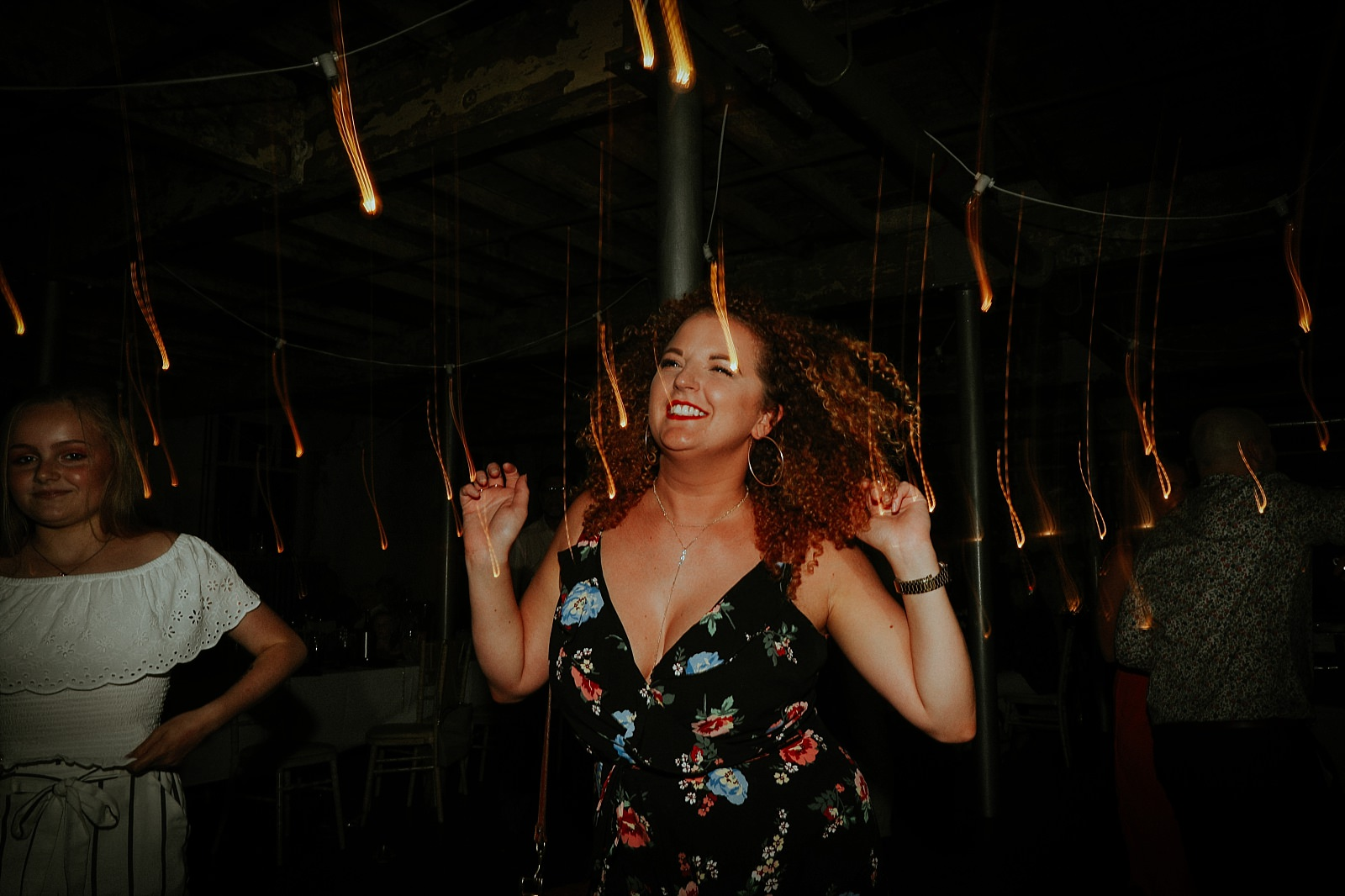 crazy dancing wedding guests