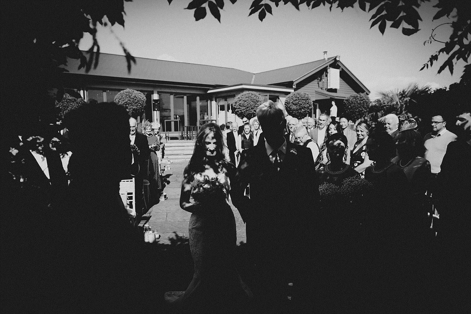 creative bride shot