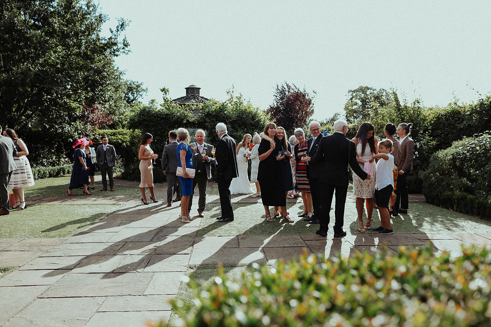crowd of wedding guests