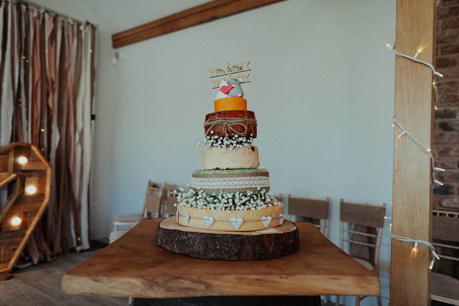 cheese style wedding cake
