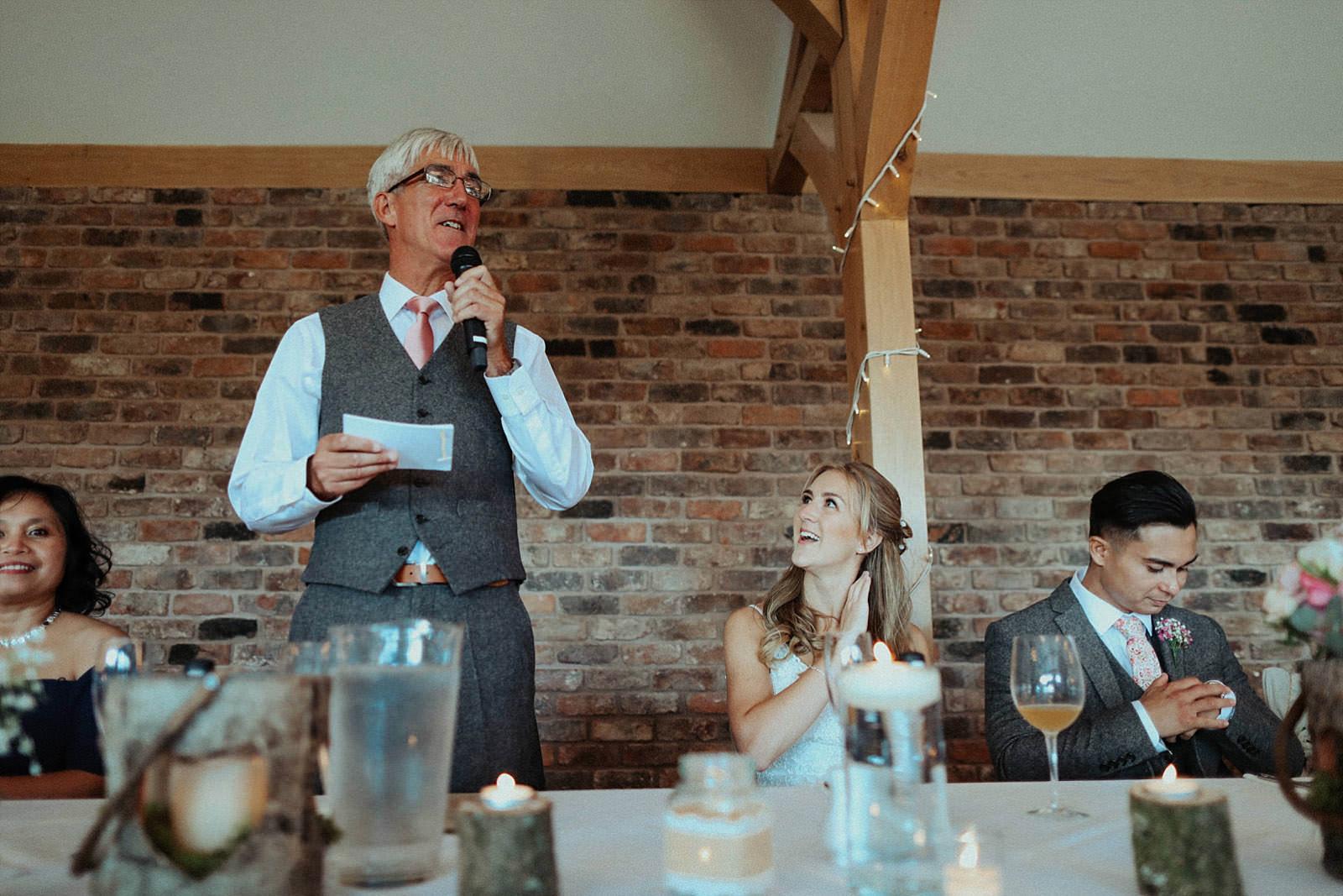 brides dad at speeches