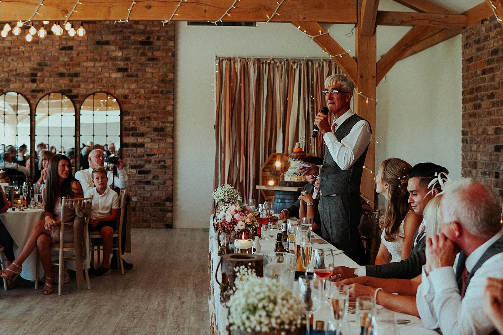 rustic barn wedding speeches