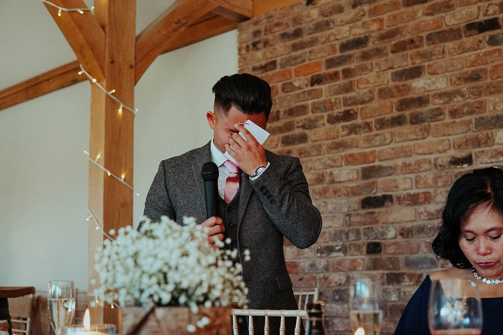 crying best man at wedding