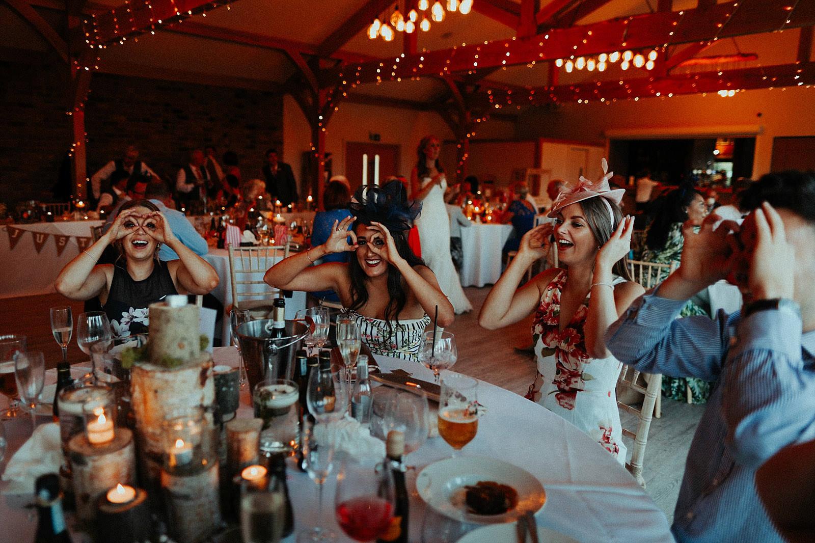 wedding guests paying buck eye