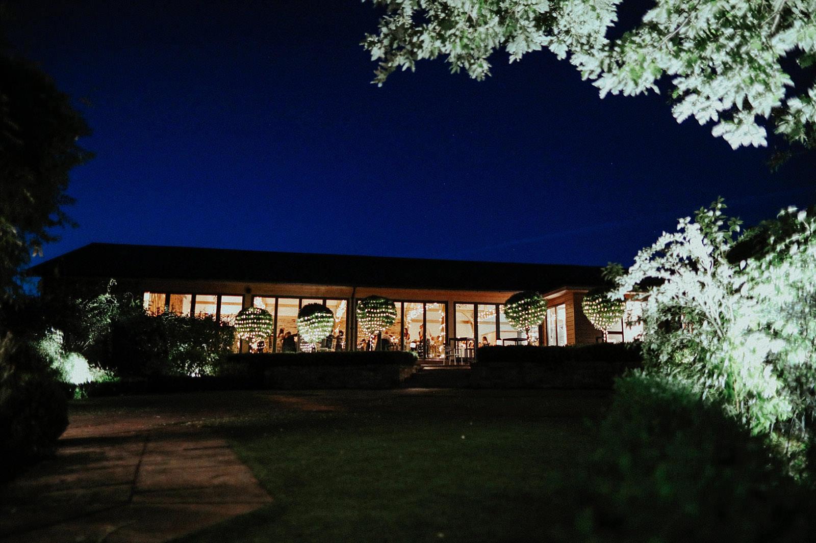 pryor hayes wedding venue at night