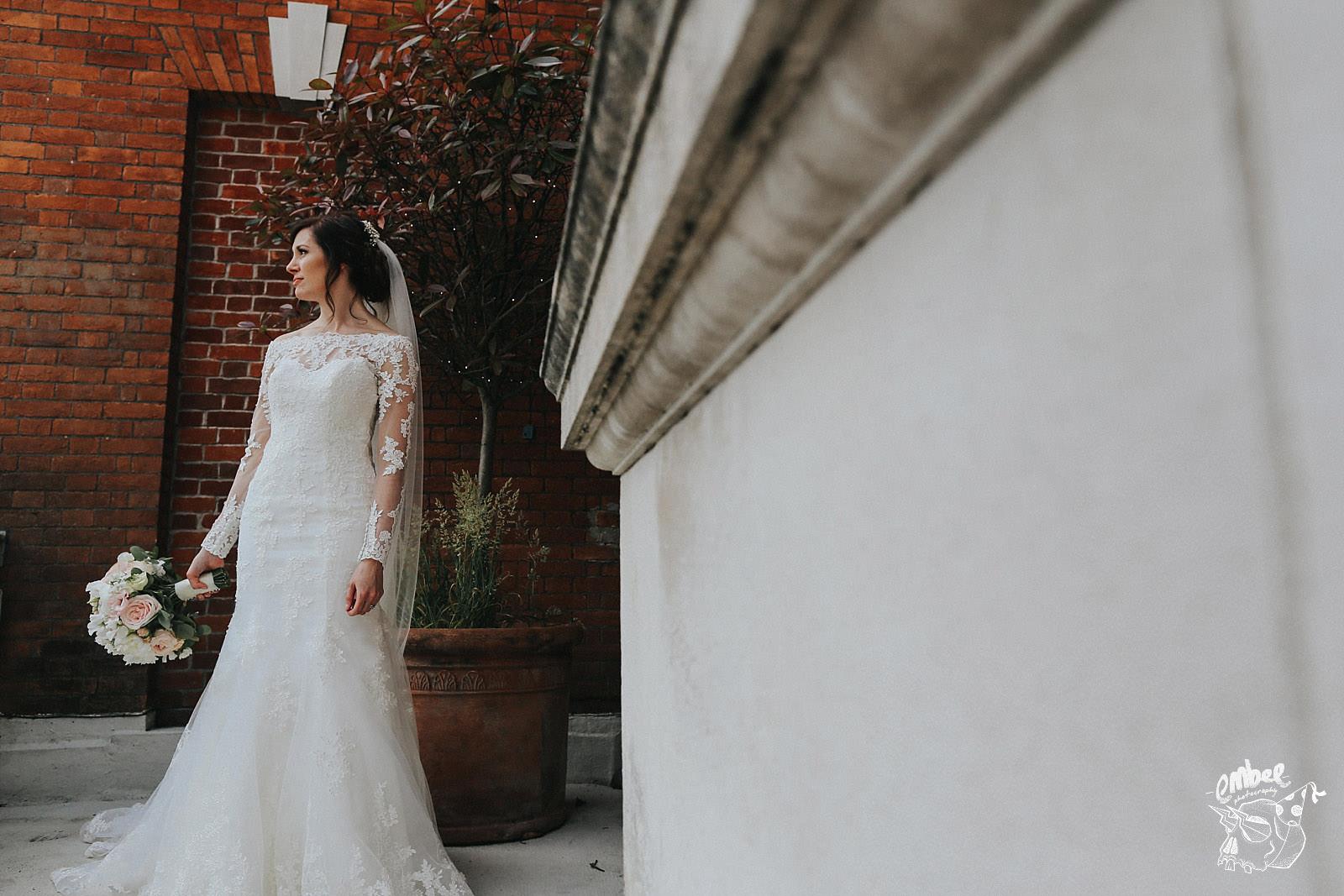 bride at eaves hall