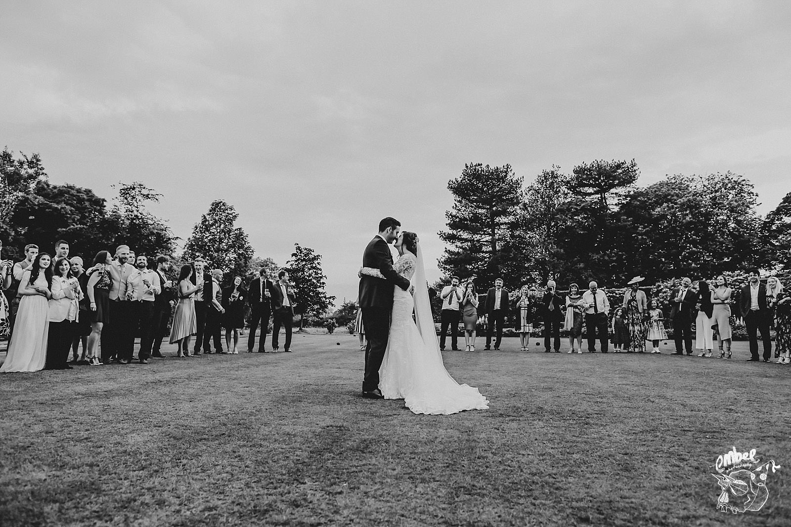 outside first dance at eaves hall