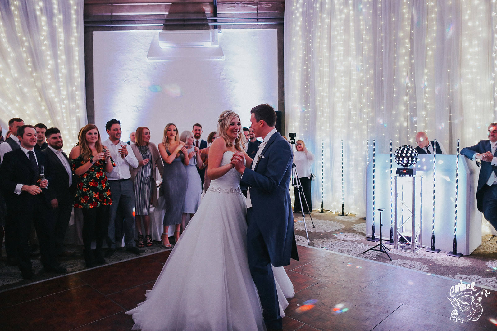first dance from the bride and groom at shrigley hall